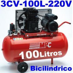 Compresor MPC monofásico bicilíndrico de 100 litros SNB10035M