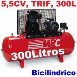 Compresor de aire MPC de 5,5 CV trifásico SNB30055
