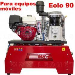 Moto compresor de aire a gasolina para equipos móviles EOLO 90