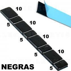 Contrapesas adhesivas de hierro, en tira de 60 gr (5-10-5-10...) 100 tiras