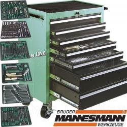Carro de herramientas Mannesmann, profesional con 321 herramientas
