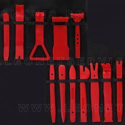 Conjunto de 12 útiles para quitar guarnecidos y molduras