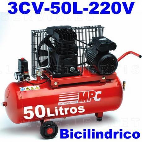 Compresor MPC monofásico bicilíndrico de 50 litros SNB5035M