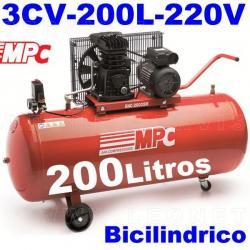 Compresor MPC monofásico bicilíndrico de 200 litros SNB20035M