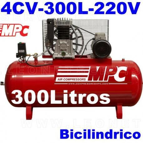 Compresor MPC monofásico bicilíndrico de 300 litros SNB30042M