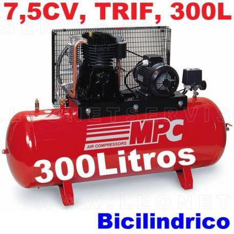 Compresor de aire MPC de 7,5 CV trifásico SNB30075