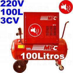 Compresor MPC insonorizado monofásico bicilíndrico de 100 litros MUTE100