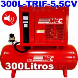 Compresor MPC insonorizado monofásico bicilíndrico de 200 litros MUTE200