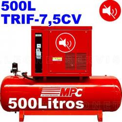 Compresor MPC insonorizado trifásico bicilíndrico de 500 litros MUTE500