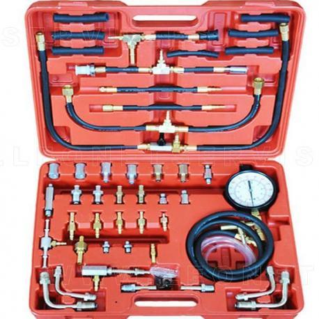 Conjunto compresímetro para medir presión de inyección gasolina