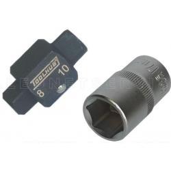 Llave para tapón de cárter, 8 y 10 mm cuadrado (2 piezas)