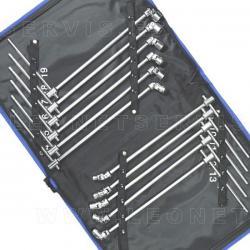 Juego de llaves con vasos articulados (10 piezas)