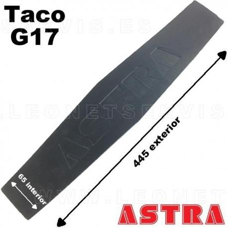 G14 Taco de goma mazico 160x120 mm para elevador, altura 20 mm