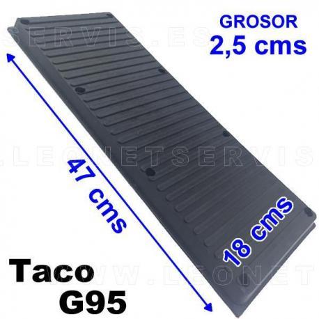 G95 Taco de goma extra grande para elevador, altura 20 mm