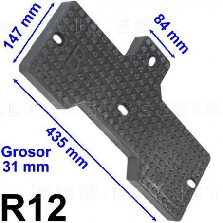 R12 taco de goma para desmontadoras Lincos, Twin Busch, RSF, Prestige Lift, Unite...