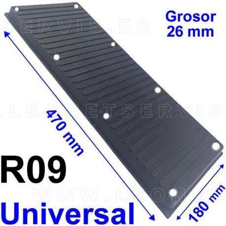 R09 Taco de goma rectangular UNIVERSAL para el lateral destalonador de la desmontadora