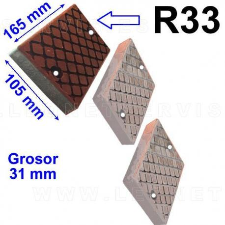 TR33 taco de goma para desmontadoras Cemb, Teco...