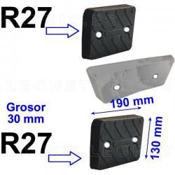 R27 taco de goma exterior para desmontadoras M&B, Werther, Bosch, Beissbarth, Sicam, Accu-Turn...