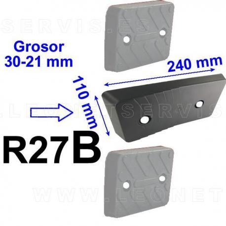 R27 taco de goma para desmontadoras M&B, Werther, Bosch, Beissbarth, Sicam, Accu-Turn...