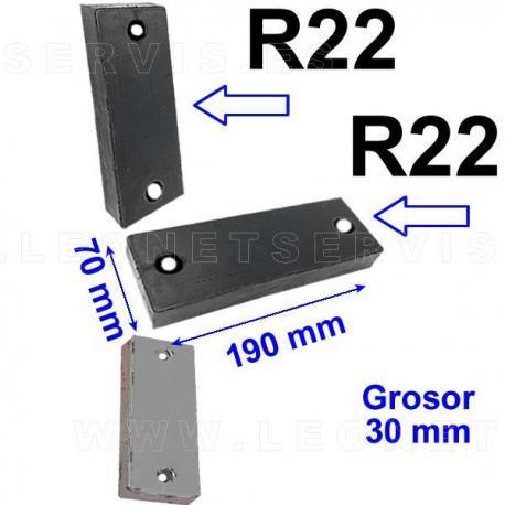 R22 taco de goma para desmontadoras Butler, Ravaglioli, Hunter...