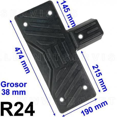 R24 taco de goma para desmontadoras Sicam, Bosch, Sice, Beissbarth...
