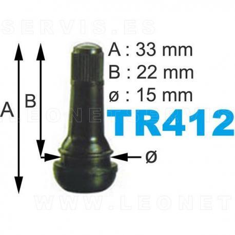 Válvulas TR-412 para neumáticos, 100 uds.