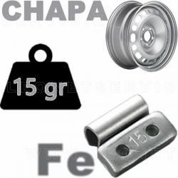 Contrapesa de clip de 15 gr. para llanta de chapa de acero, 100 uds.