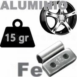 Contrapesa de clip de 15 gr. para llanta de aluminio, 100 uds.
