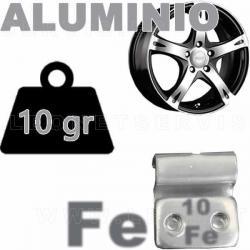 Contrapesa de clip de 10 gr. para llanta de aluminio, 100 uds.