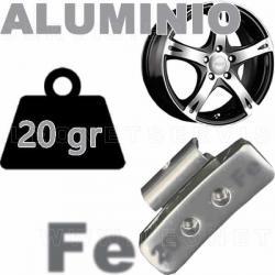 Contrapesa de clip de 20 gr. para llanta de aluminio, 100 uds.