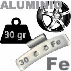 Contrapesa de clip de 30 gr. para llanta de aluminio, 100 uds.