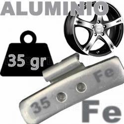 Contrapesa de clip de 35 gr. para llanta de aluminio, 100 uds.