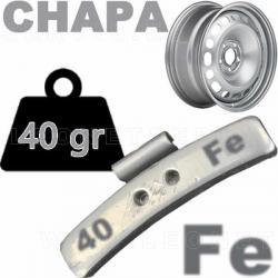 Contrapesa de clip de 40 gr. para llanta de chapa de acero, 100 uds.