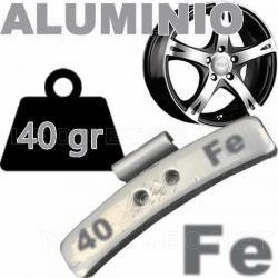 Contrapesa de clip de 40 gr. para llanta de aluminio, 50 uds.