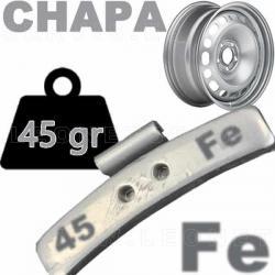 Contrapesa de clip de 45 gr. para llanta de chapa de acero, 100 uds.