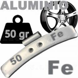 Contrapesa de clip de 45 gr. para llanta de aluminio, 50 uds.