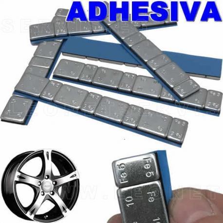 Contrapesas adhesivas de acero, en tira de 60 gr