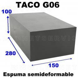 G06 Taco de goma blando y deformable para elevador de coches de tijera