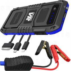 Minibatt POCKET VR:  cargador multifunción 4000 mAH + arrancador 400 A con pinzas inteligentes + linterna