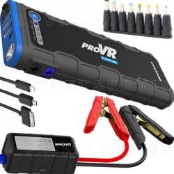 Minibatt PRO VR, cargador multifunción 20.000 mAH + arrancador 600 A con pinzas inteligentes + linterna