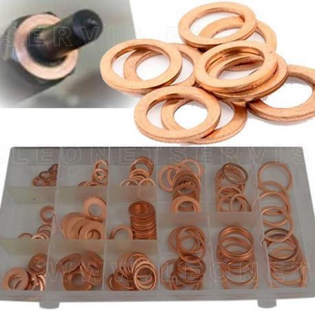 Surtido de arandelas de cobre para inyectores diesel, 140 piezas