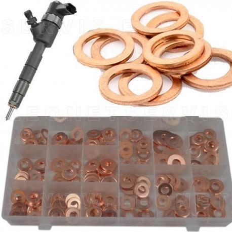 Surtido de arandelas de cobre para inyectores diesel COMMON RAIL , 150 piezas
