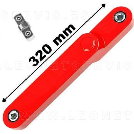 """Alargadera para llave de carraca de  3/8"""" de largo 320 mm"""