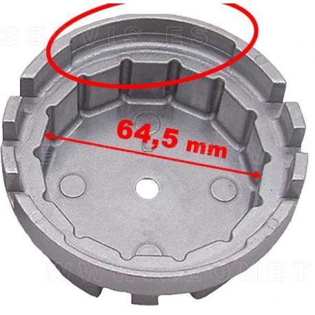 Llave de filtro de aceite de 14 caras para motores Toyota y Lexus