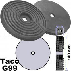 G99 Taco de goma de 140 mm para elevador Werther, Oma, Tecalemit, Bradbury, Autec...