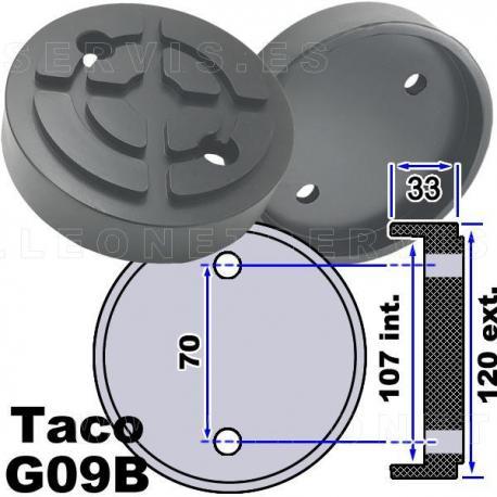 G09B Taco de goma 120mm, extragrueso, para elevador  Launch, Twin Busch, Rp tools...