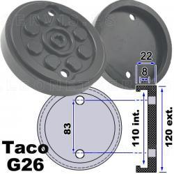 G26 taco de goma para elevadores compatible con Maha