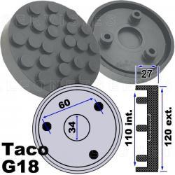 G18 Taco de goma 120 mm para Ravaglioli...