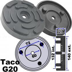 G20 Taco de goma 140 mm para elevador de taller OMCN, Rogen...