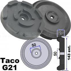 G21 Taco de goma 143 mm para elevadores de coches OMCN, Rogen...